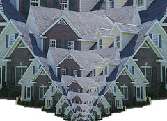 optical illusion houses
