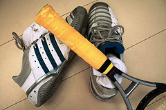 tennis-racket-and-shoes